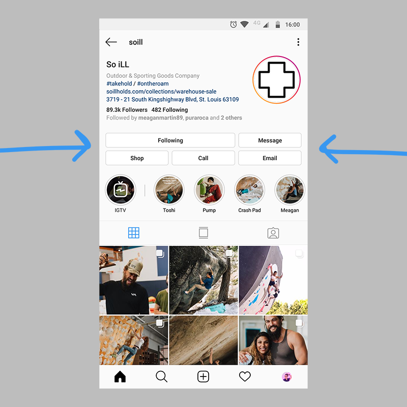 Instagram Business Profile CTA