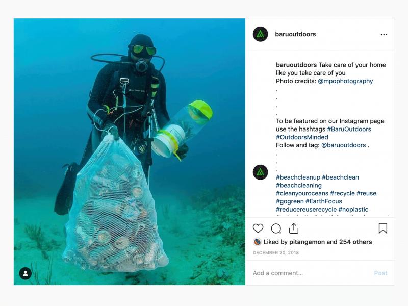 great instagram repost example